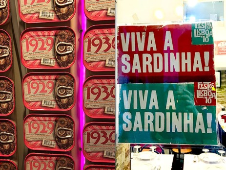 Sardinen und Dosen in Lisabon
