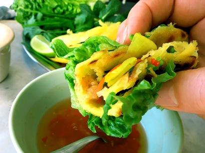 Vietnam Pfannkuchen banh xeo mit Dip