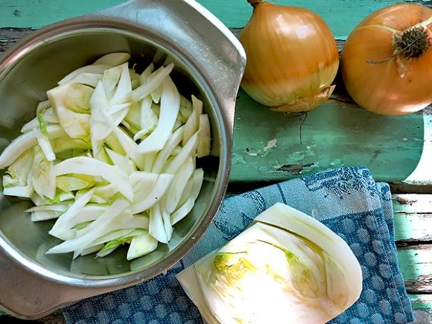 Proviant Fenchel und Zwiebel