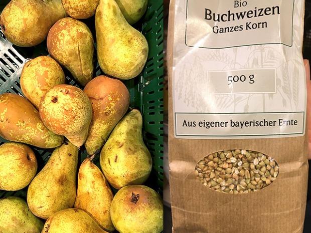 Deutsche Birne und Buchweizen