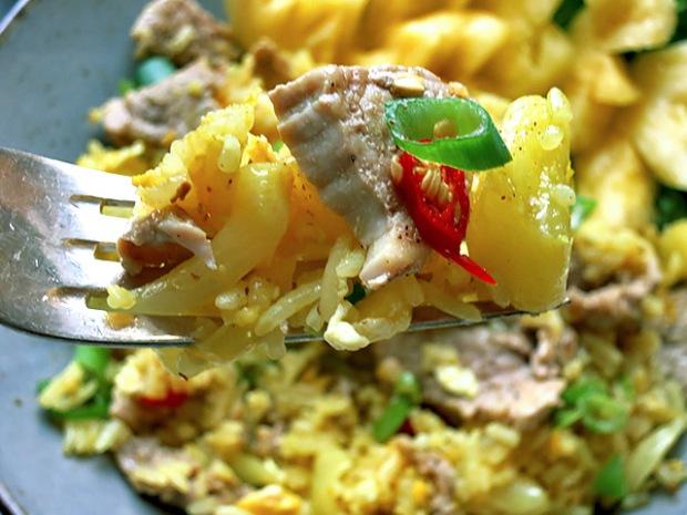 Ananas Curry Reis fertig