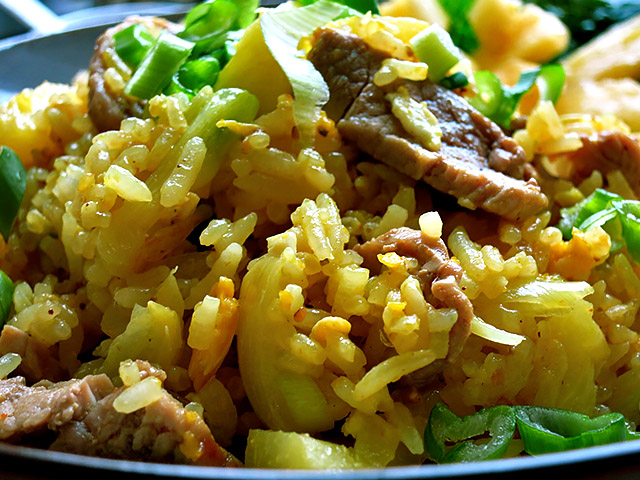 Curry Fried Rice Ananas