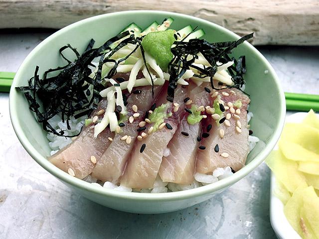 Chirashi Sushi Bowl Nori Streifen