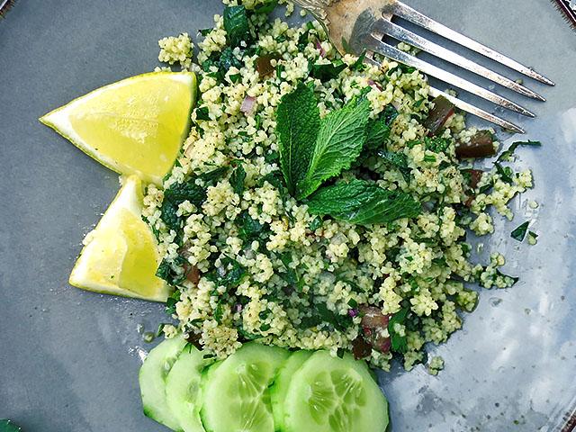 Tabouleh Salat aus Couscous
