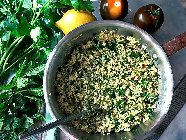 Couscous Salat die Zutaten