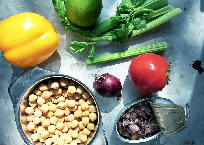 Zutaten für Pulpo Salat