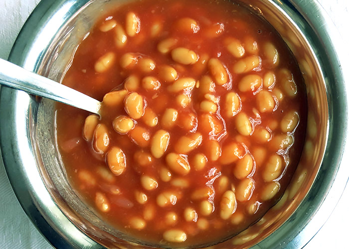 Süß saure Baked Beans