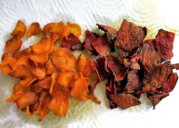 Möhren und Rote Bete Chips