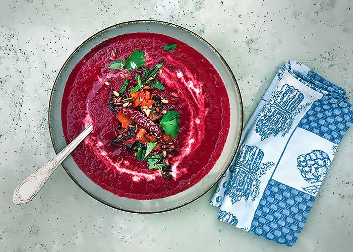 Rote Bete Suppe von Die See kocht