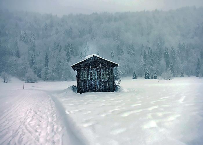 Schneehütte Adventszeit