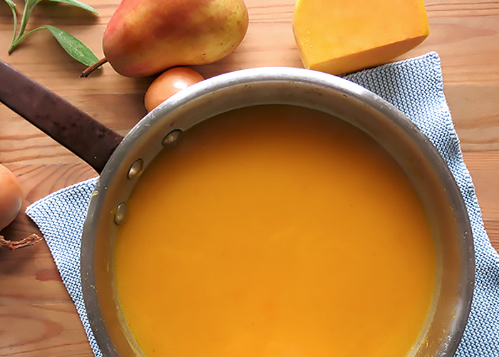 Kürbissuppe pur vegan vegetarisch