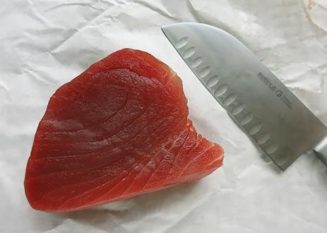 Yellowfin Thunfischsteak frisch