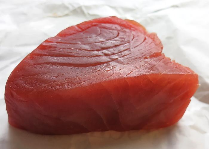 Frisches Yellowfin Thunfischfilet fettfrei