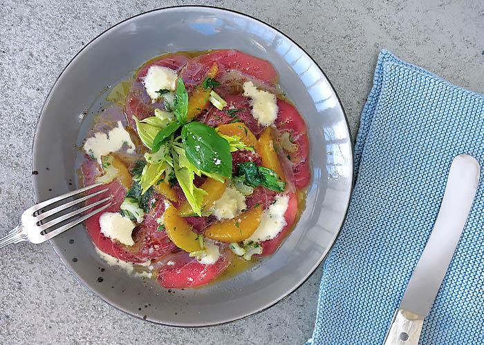 Yellofin Tuna Carpaccio Sardisch