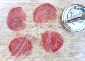 Wie schneide ich Thunfisch Carpaccio