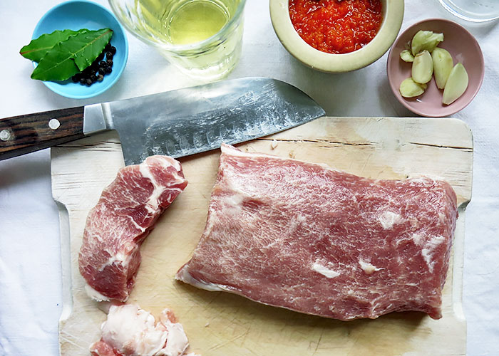 Zutaten fuer Carne de Porco
