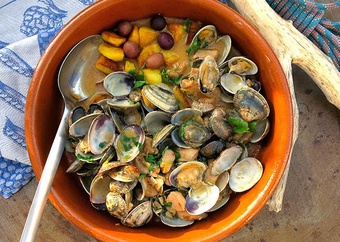 Die See kocht Carne Aletajana Muscheltopf Portugal
