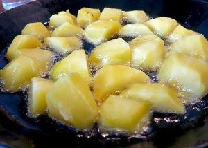 perfekte Bratkartoffeln in Schweineschmalz