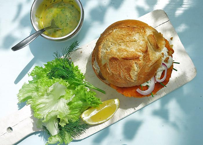 Veganer Fischburger von Sofine