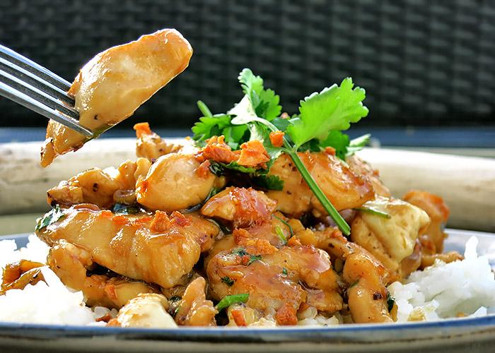 Thai Pfeffer Knoblauch Hähnchen