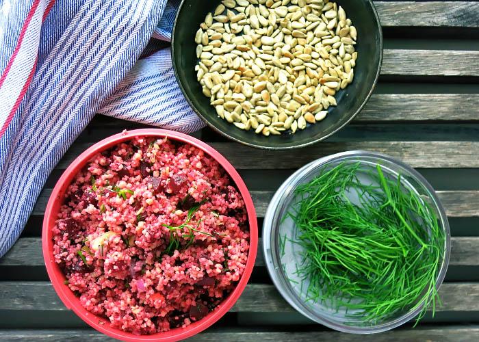 Couscous Salat lässt sich gut aufbewahren