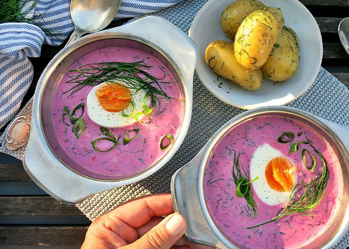 Sommergericht litauischer kalter Borschtsch