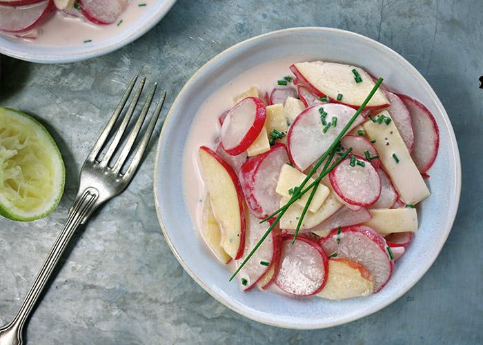 Salat Idee Radieschen mit Käse