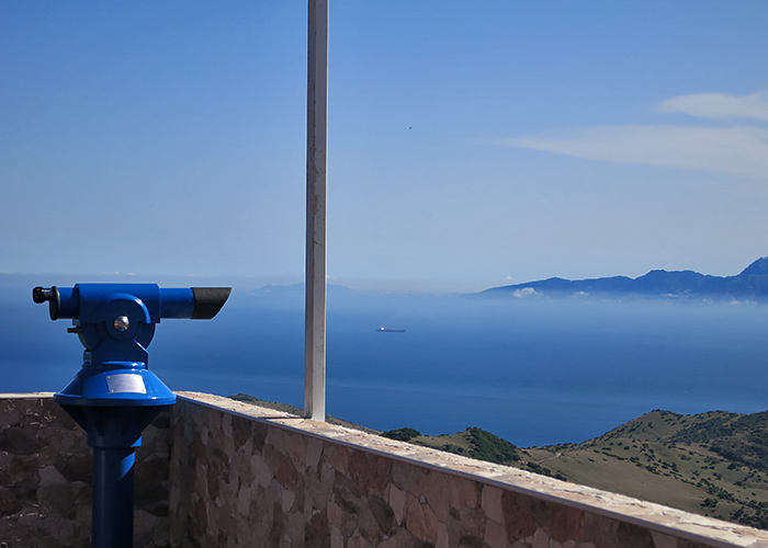 Blick auf Marocco Strasse von Gibraltar