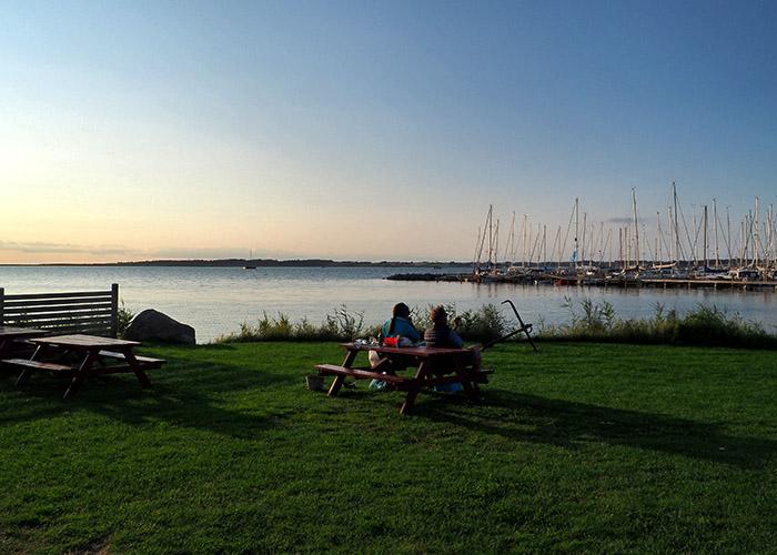 Lyø Hafenblick