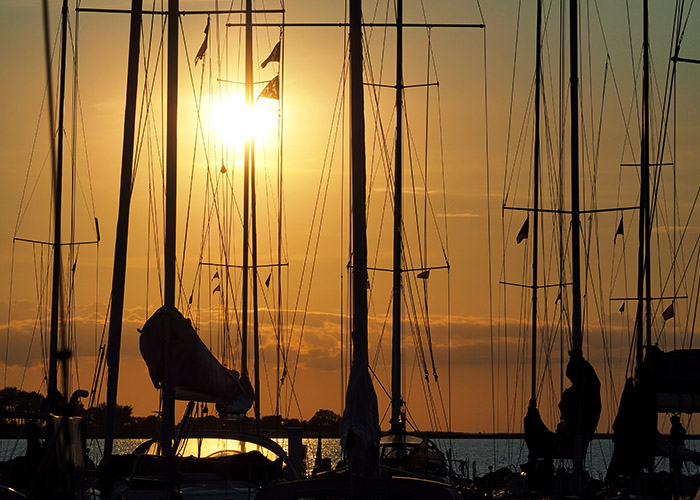 Lyoe Sonnenuntergang